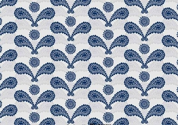 Blue Cashmere Ornament Pattern - Free vector #393329
