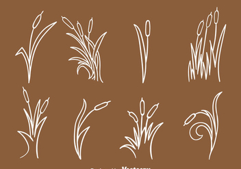 Hand Drawn Reeds Collection - vector gratuit #393339