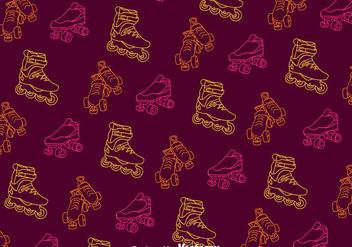 Roller Skates Line Pattern - vector #393409 gratis