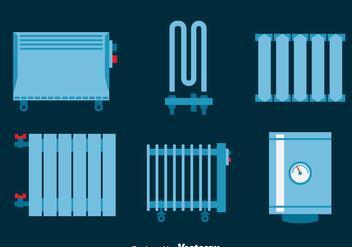 Heating Radiator Vector Set - Free vector #393419