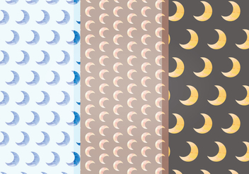 Vector Moon Patterns - Free vector #393439