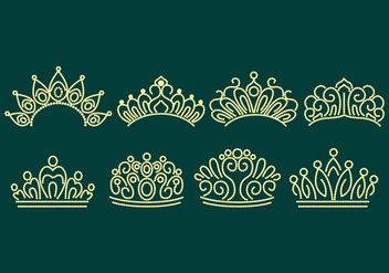 Pageant Crown Icons - vector #393469 gratis