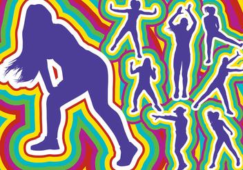 Zumba Dance Silhouette - Free vector #393489