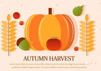 Autumn Harvest Vector Illustration - Kostenloses vector #393749