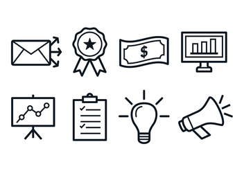Free Marketing Icons - vector #393789 gratis