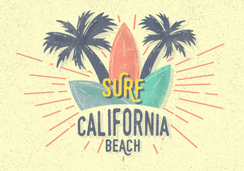 Free Vintage Surf Vector Illustration - Kostenloses vector #393819