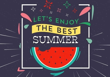 Free Vector Summer Typography - vector gratuit #393869