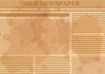 Old Newspaper Layout Vector - Free vector #393879