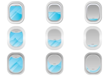 Free Plane Window Vector Set - Free vector #394019