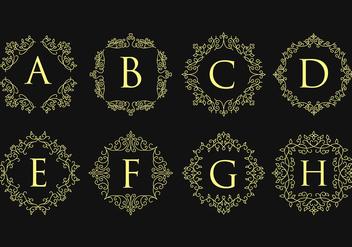 Monogram Logos - бесплатный vector #394039