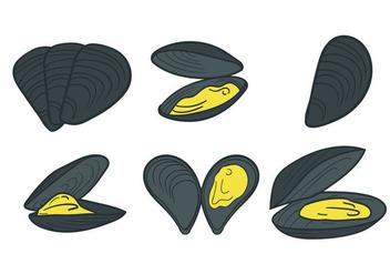 Mussel Vector - Free vector #394259