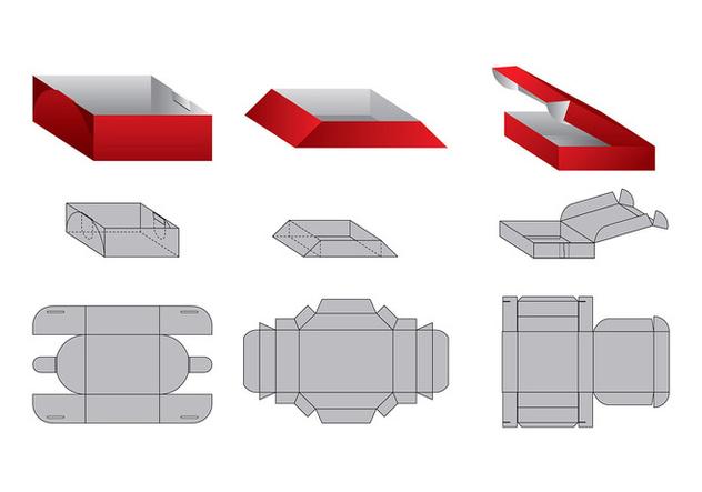 Die Cut Trays Vector - Free vector #394549