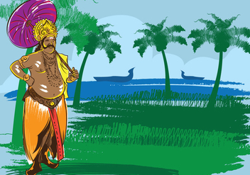 Onam Festival Illustration - vector gratuit #394559