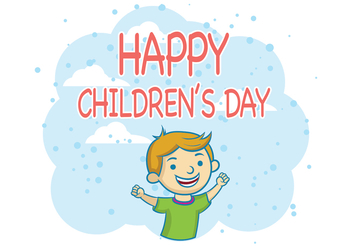 Children's Day Vector - Free vector #394609