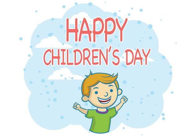 Children's Day Vector - Free vector #394609