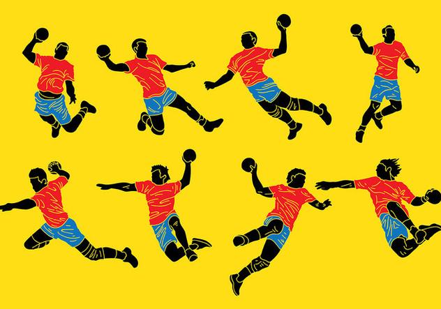 Free Handball Icons Vector - Free vector #394639