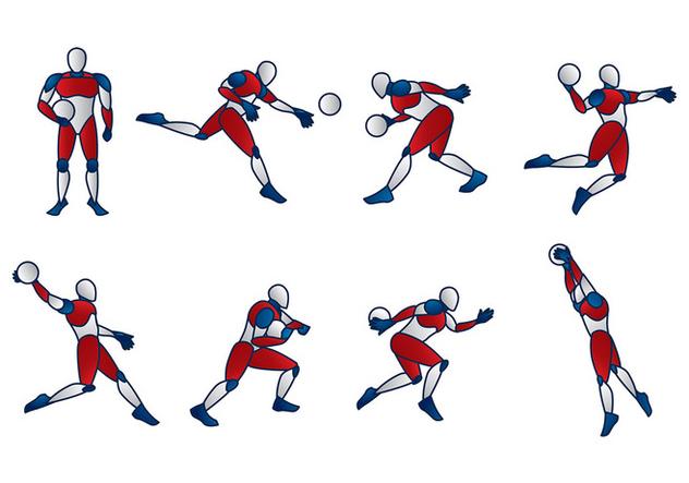 Handball Dummy Vector - Free vector #394649