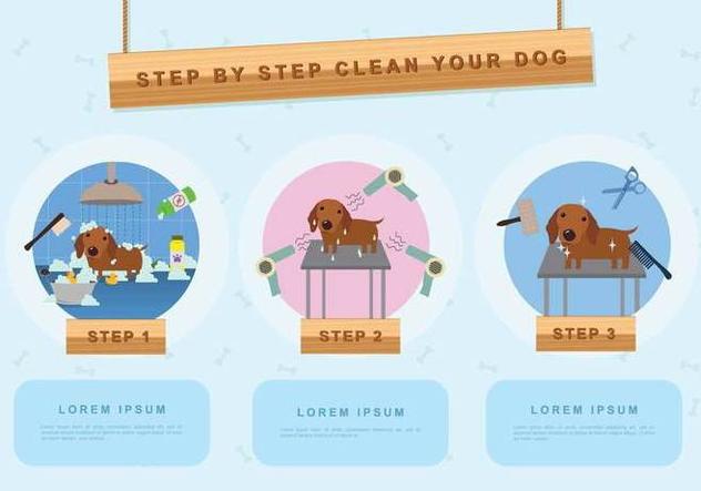 Free Dog Wash Illustration - Free vector #394719