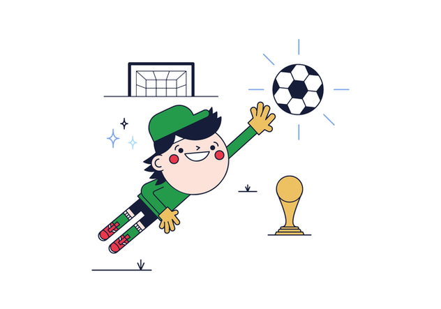 Free Goal Keeper Vector - Free vector #394919