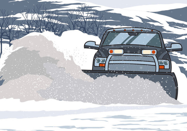 Snow Plow Pick Up Truck - Free vector #394929