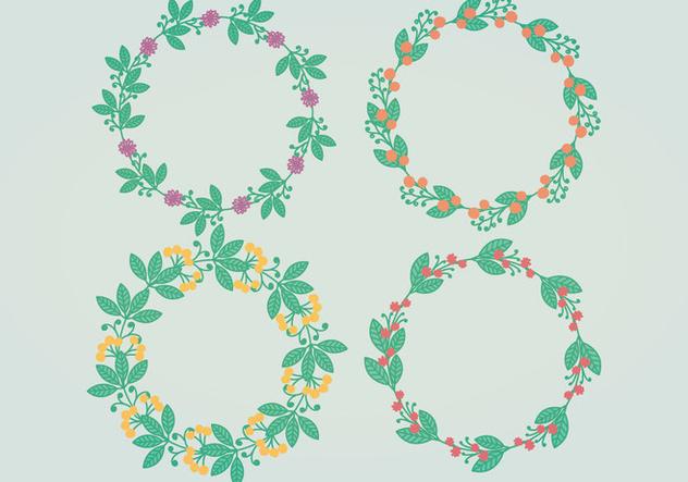 Vector Floral Wreaths - Free vector #394989