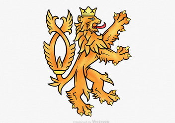 Free Lion Rampant Vector Illustration - Free vector #395119