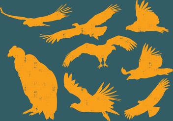Condor Silhouettes - бесплатный vector #395229