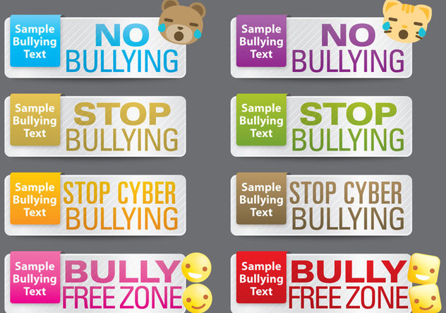Bullying Banners - Free vector #395309