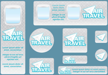 Travel Banners - vector #395339 gratis