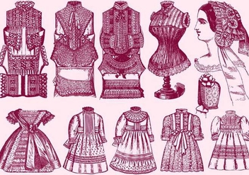 Lace Trim Clothes - vector gratuit #395399