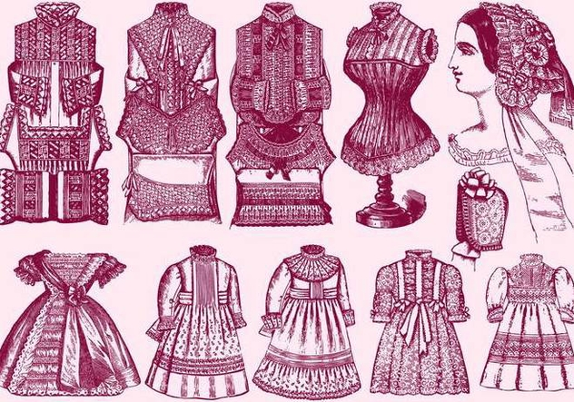 Lace Trim Clothes - Free vector #395399