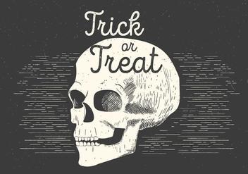 Free Spooky Vector Skull - Kostenloses vector #395469