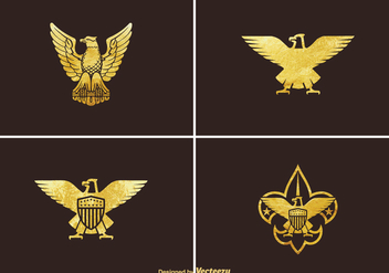 Free Golden Eagle Vector Set - Kostenloses vector #395569
