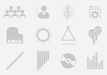 Gray Music Instruments - vector gratuit #395609