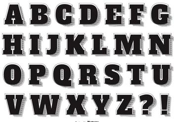 Retro Vintage Style Vector Alphabet - Free vector #395749