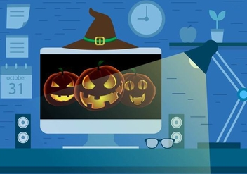 Free Halloween Screen Saver Vector Design - Free vector #395779