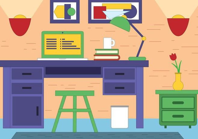 Free Vector Designer Room - vector gratuit #395809