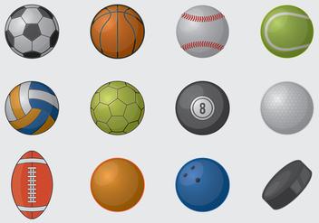 Sports Balls - vector gratuit #395949