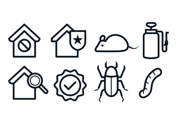 Free Pest Control Icons - Kostenloses vector #395979