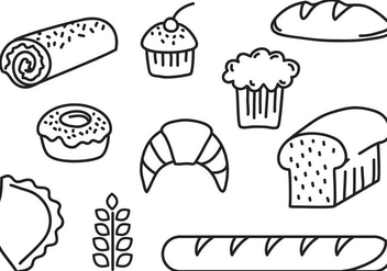 Free Bakery Bread Vectors - бесплатный vector #396329