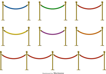Velvet Rope Vector Color Icons - vector #396569 gratis
