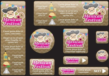 Mexican Festival Banners - бесплатный vector #396809