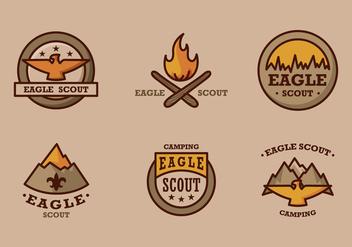 Eagle scout logo vintage vector pack - Free vector #396859