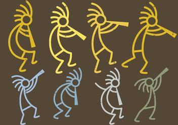 Kokopelli Figures - Free vector #396899