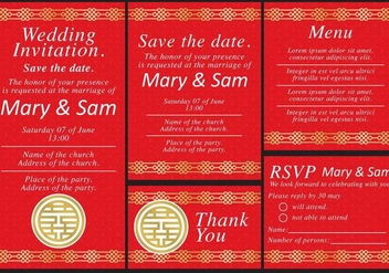 Chinese Wedding Templates - Free vector #396909