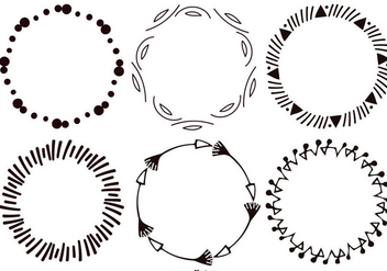 Decorative Sketchy Vector Frames Collection - Kostenloses vector #396939