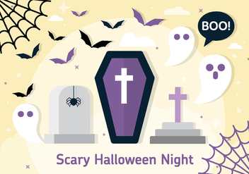 Free Halloween Vector Coffin Illustration - Free vector #396979