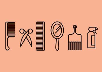 Barber Tools Vector Set - vector gratuit(e) #397029