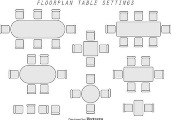 Floorplan Geometric Vector Elements - vector gratuit #397049