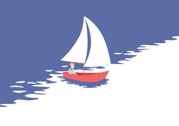 Vector Sailing Illustration - бесплатный vector #397109